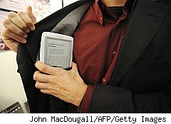The increasing popularity of electronic books means readers must not only navigate through hundreds of thousands of books for the one they seek, they must figure out if the e-book they want will work on the device they use. A Cybook Opus e-book reader is pictured here.