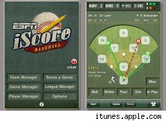 iScore Baseball app from ESPN