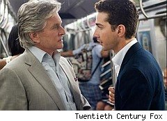 Douglas and LaBeouf in Wall Street: Money Never Sleeps
