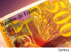 Fears of government debt default in Europe have spread to France