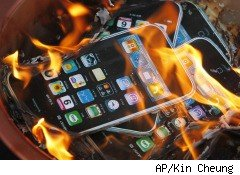 Apple iPhone images burned