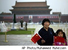 Tiananmen Square on the 21st anniversary of the massacre
