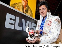 Elvis with Elvis Mr. Potato Head