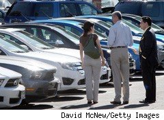 Auto dealer's lot
