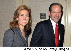 Eliot Spitzer (R) and his real-life wife, Silda Wall Spitzer