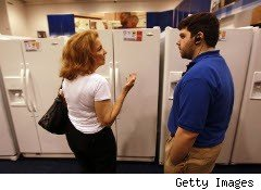 Woman shopping at Best Buy