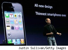 Apple CEO Steve Jobs unveils the iPhone 4