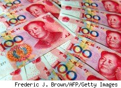 China has allowed its currency, the yuan or renminbi, to float instead of pegging it to the U.S. dollar