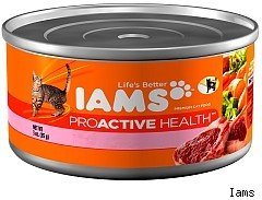 Iams cat food recall