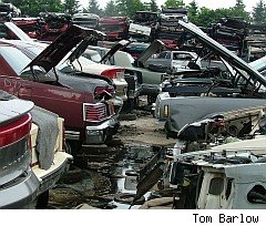Visit junkyard for bargain car parts