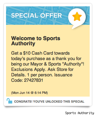 Location-based coupons from Sports Authority, Eye-Fi and more