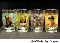 McDonald's Shrek glasses