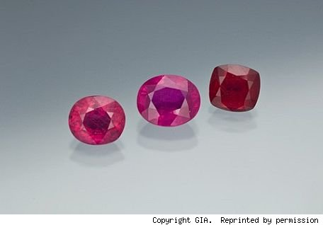 glass-filled rubies being sold as real