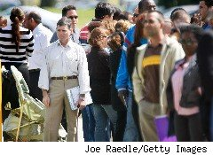 Hundreds of people lined up for a job fair in Miami