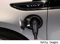 Chevy Volt plug-in electric car