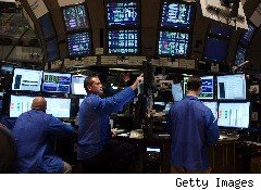 Trader on stock exchange