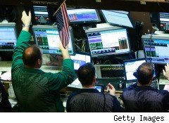 Traders on NY Stock Exchange during earnings season