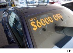 Auto dealer incentives