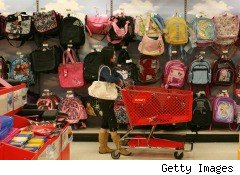 back to school shopping, backpacks, consumers, back to school