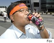 Energy drinks have a lot of caffeine.
