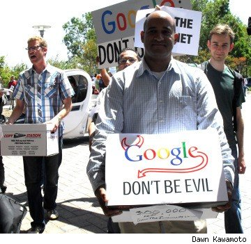 James Rucker of ColorOfChange.org delivered petitions to Google