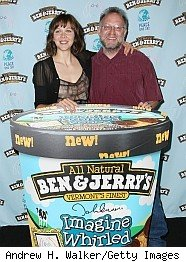 Jerry of Ben & Jerry's with new ice cream flavor Imagine Whirled Peace
