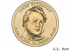 James Buchanan coin