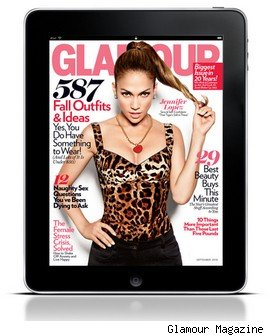 Glamour magazine on the iPad