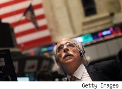 stock trader at New York Stock Exchange