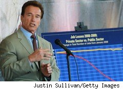 California Gov. Arnold Schwarzenegger has a cameo role in