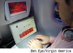 Free WiFi on Virgin America airlines