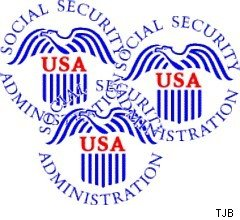 overlapping social security logos