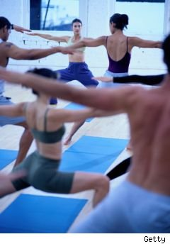 Friday freebies - photo of yoga practictioners