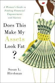 book cover - does this make my assets look fat? By susan hirshman