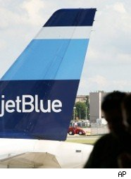 jetBlue plane on the ground