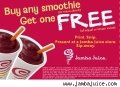 Jamba Juice BOGO coupon