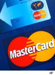 credit card showing MasterCard logo