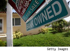 Bank-owned real estate in mortgage foreclosure