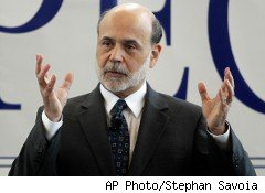 Federal Reserve Chairman Ben Bernanke warned Monday that the growing federal deficit could harm the economy.