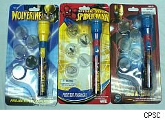 Spiderman flashlight recall.