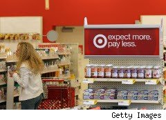 Woman shops at Target