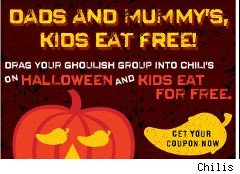 Kids eat free at Chilis coupon