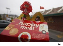 San Francisco is proposing a ban on Happy Meal toys, such as this one.