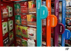 Gift card display  rack