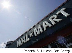 exterior of Wal.Mart - the chain leads with lowest prices for Black Friday 2010