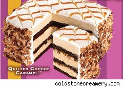 Eight-layer cake at Coldstone Creamery