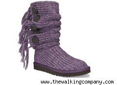 Purple Ugg Fringed Cardy boot
