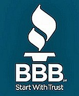 Better Business Bureau logo Start with trust