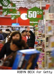 people in line on black friday
