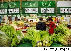 Food prices push Chinese inflation higher